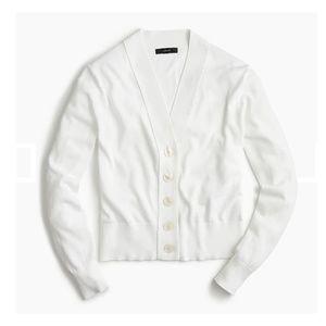 J. Crew || Cropped Lightweight Cardigan Sweater